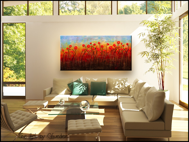 In Full Bloom-Modern Contemporary Abstract Art Painting Image