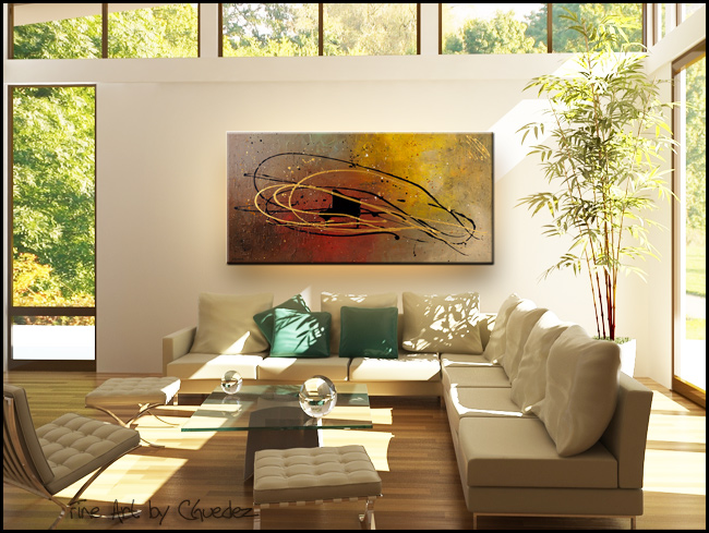 Musique en Mouvement-Modern Contemporary Abstract Art Painting Image