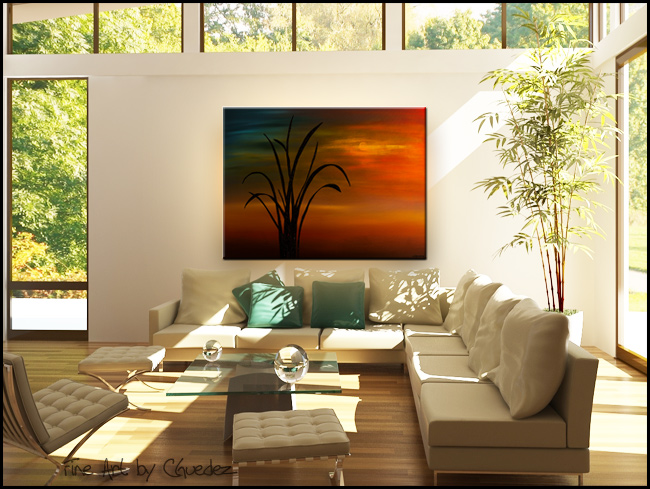 My Home Town-Modern Contemporary Abstract Art Painting Image