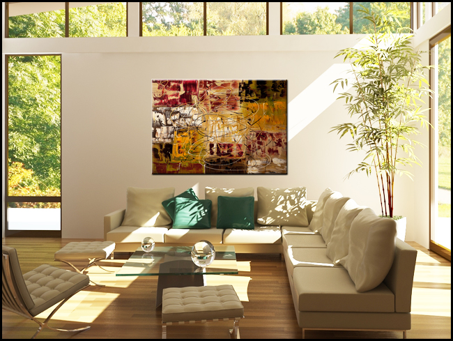 New World-Modern Contemporary Abstract Art Painting Image