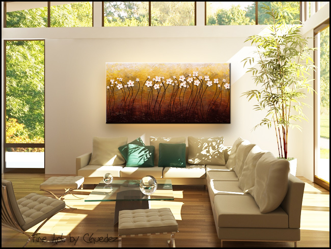 Paraiso de Flores-Modern Contemporary Abstract Art Painting Image