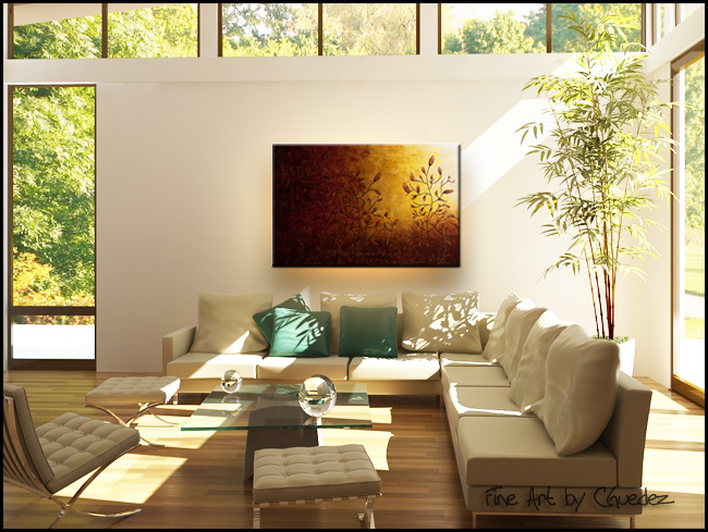 Where I Grew Up II-Modern Contemporary Abstract Art Painting Image