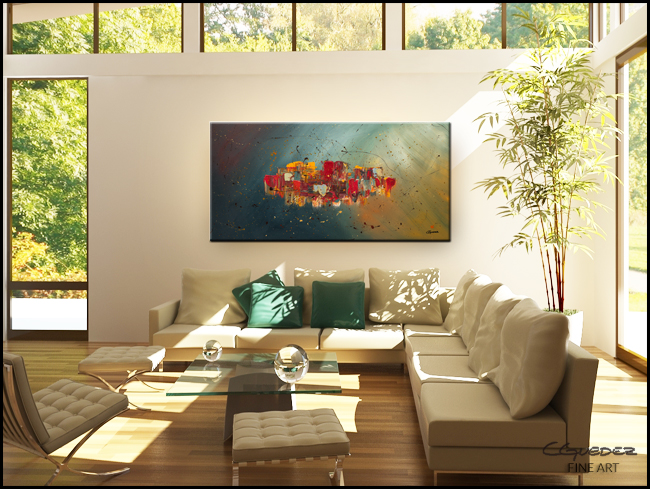 Winds of Prosperity-Modern Contemporary Abstract Art Painting Image