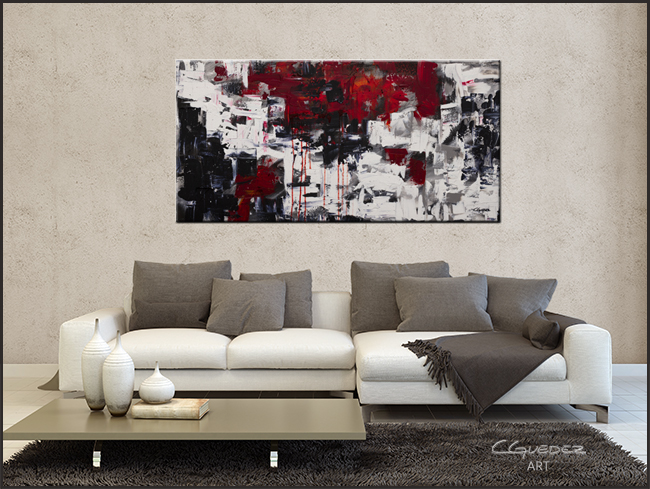 Beyond the Horizon-Modern Contemporary Abstract Art Painting Image