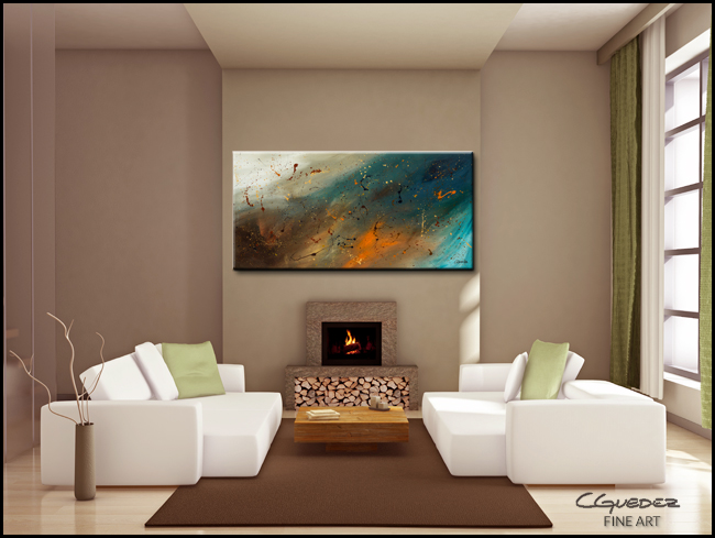 Abstract Sensation-Modern Contemporary Abstract Art Painting Image