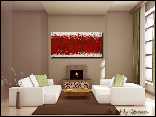 Ardent Love-Modern Contemporary Abstract Art Painting Image