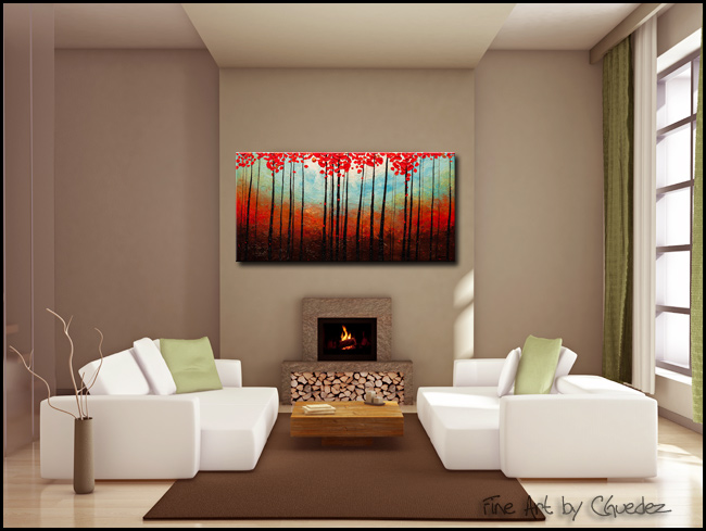Change of Seasons-Modern Contemporary Abstract Art Painting Image