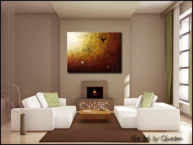 Chasing the Light-Modern Contemporary Abstract Art Painting Image