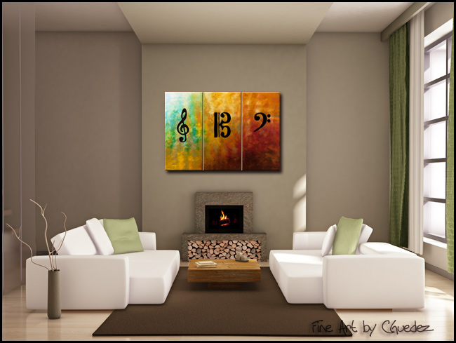 Clefs-Modern Contemporary Abstract Art Painting Image