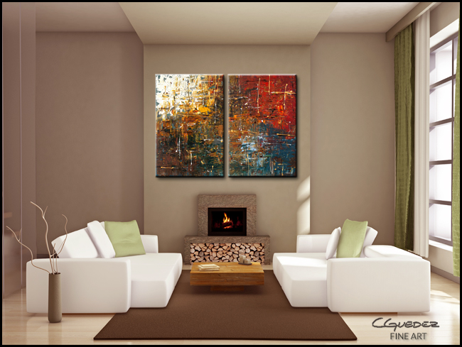 Color Splash-Modern Contemporary Abstract Art Painting Image