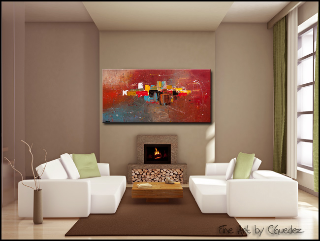 Cosmopolitan-Modern Contemporary Abstract Art Painting Image