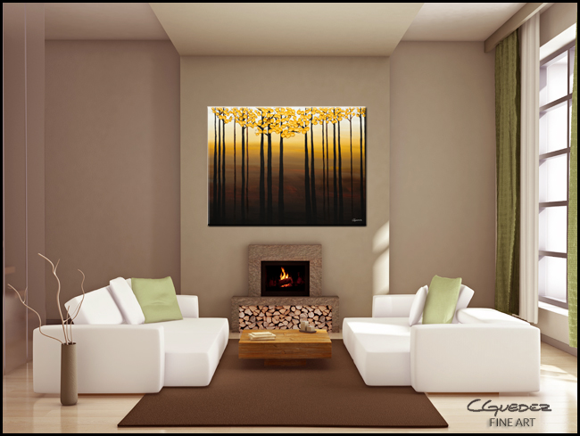 Costa del Sol-Modern Contemporary Abstract Art Painting Image