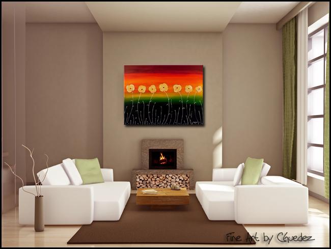 Dreams Come True-Modern Contemporary Abstract Art Painting Image