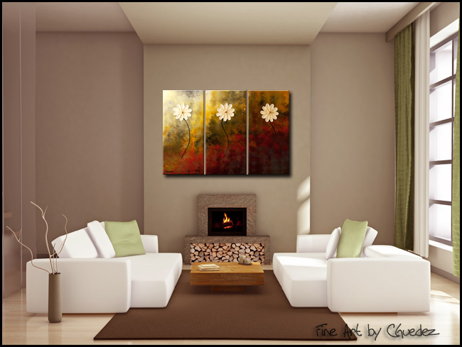 Faith, Hope, Love-Modern Contemporary Abstract Art Painting Image