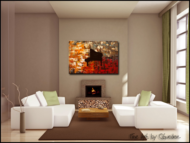 Grand Piano-Modern Contemporary Abstract Art Painting Image