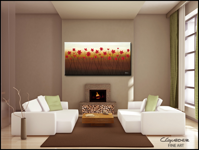 Holiday Season-Modern Contemporary Abstract Art Painting Image