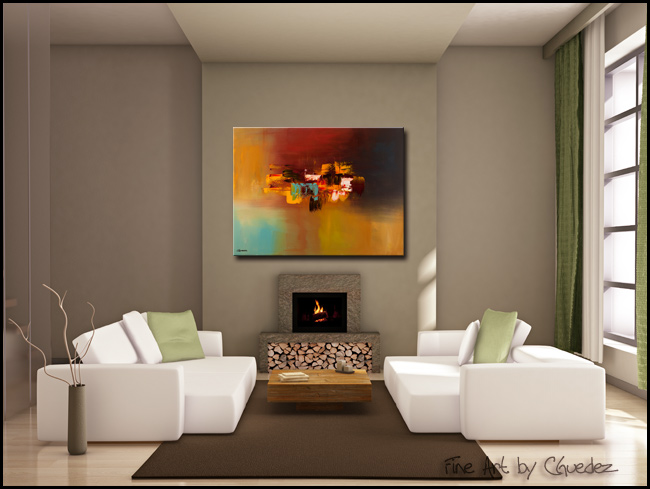 Imagine-Modern Contemporary Abstract Art Painting Image