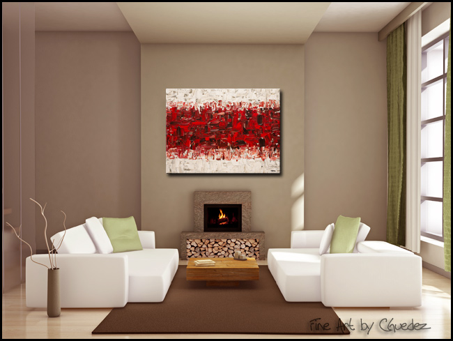 In Between-Modern Contemporary Abstract Art Painting Image