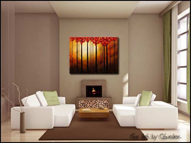 Into the Light-Modern Contemporary Abstract Art Painting Image