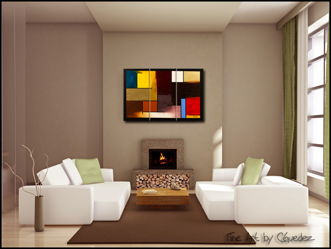 La Ville de Paris-Modern Contemporary Abstract Art Painting Image