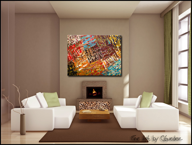 Le Monde-Modern Contemporary Abstract Art Painting Image