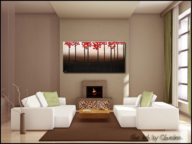 Modern Landscape-Modern Contemporary Abstract Art Painting Image