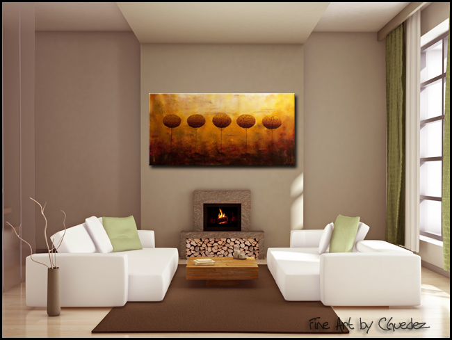 Nature's Landmark-Modern Contemporary Abstract Art Painting Image