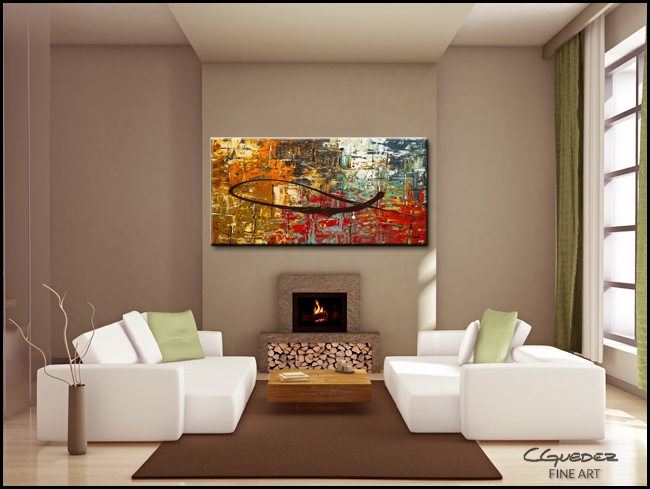 Peace on Earth-Modern Contemporary Abstract Art Painting Image