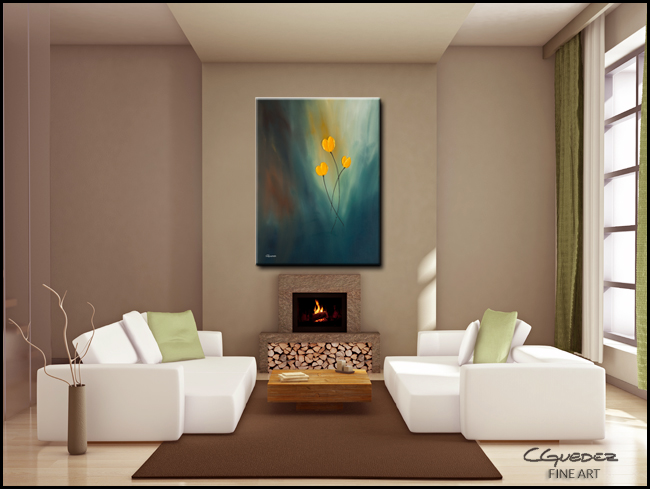 Rays of hope-Modern Contemporary Abstract Art Painting Image