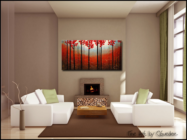 Red Blossom-Modern Contemporary Abstract Art Painting Image