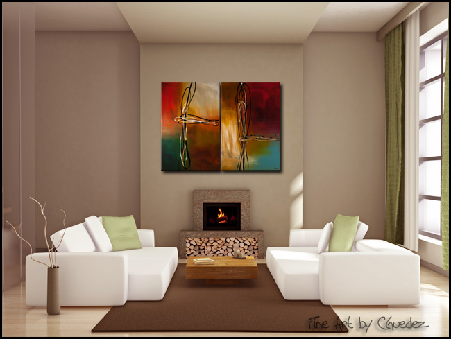 Rush-Modern Contemporary Abstract Art Painting Image
