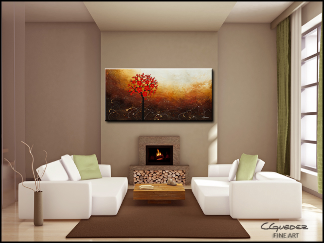 Season of Love-Modern Contemporary Abstract Art Painting Image