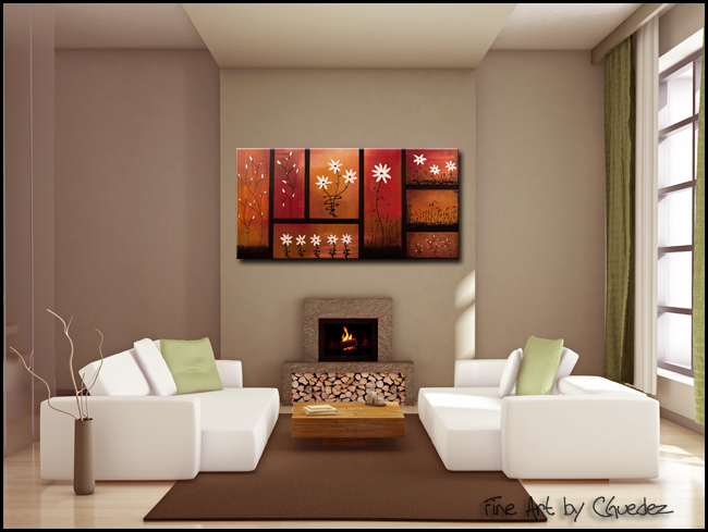 Sunset Garden-Modern Contemporary Abstract Art Painting Image