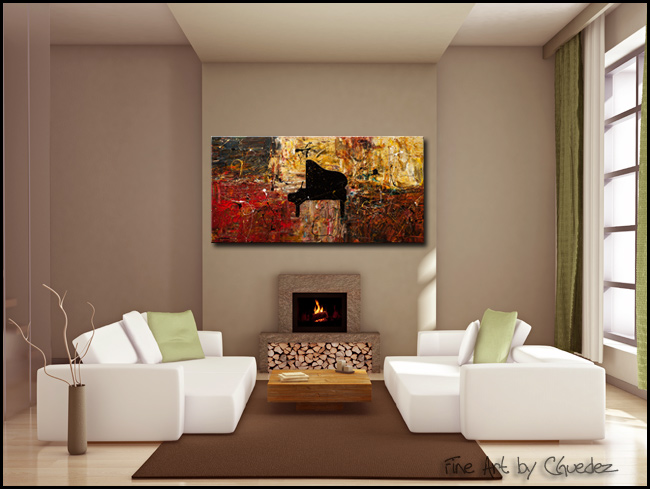 The Grand Finale-Modern Contemporary Abstract Art Painting Image