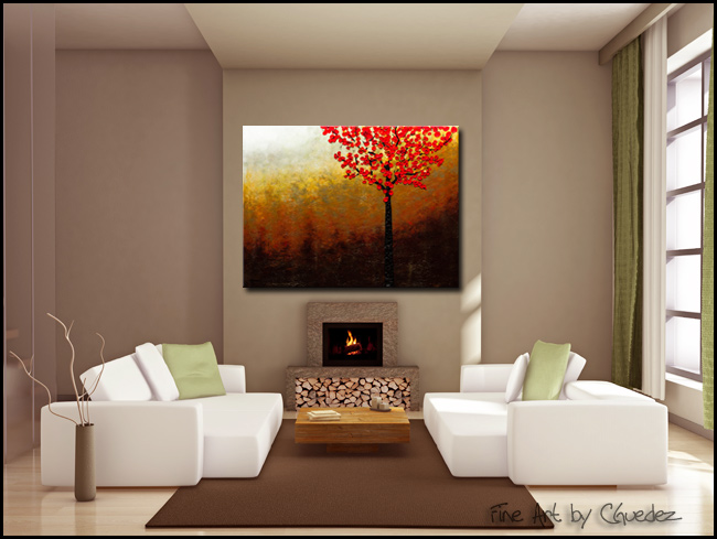 Top of the Hill-Modern Contemporary Abstract Art Painting Image