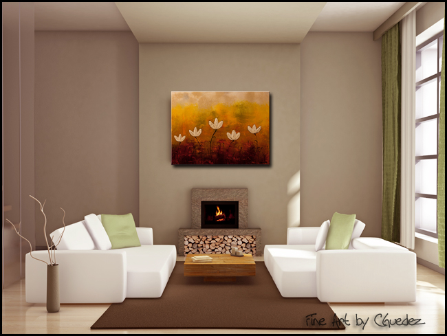 Touch of Nature-Modern Contemporary Abstract Art Painting Image