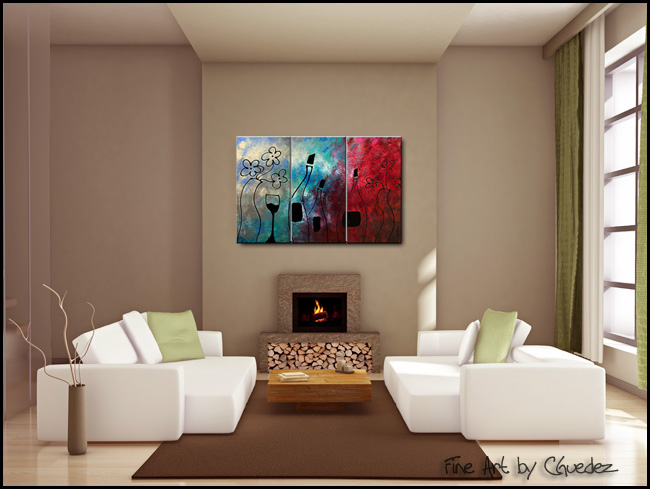 Vin Rouge-Modern Contemporary Abstract Art Painting Image
