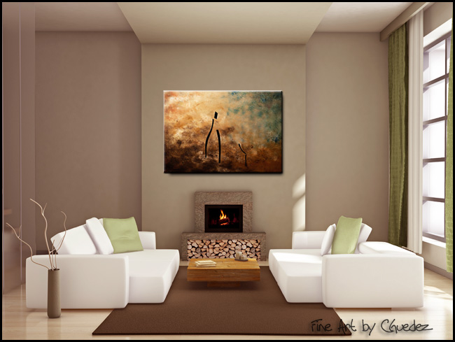 Vino de Arte Moderno-Modern Contemporary Abstract Art Painting Image