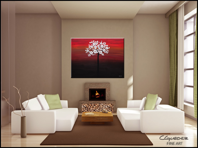 Wedding Flowers-Modern Contemporary Abstract Art Painting Image