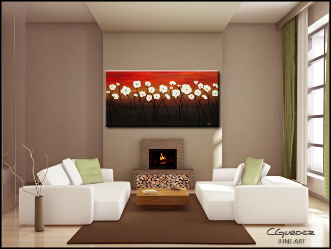 White Dreams-Modern Contemporary Abstract Art Painting Image