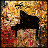 For Sale Music, Wine and Symbols Art Gallery 1-Abstract Art Paintings