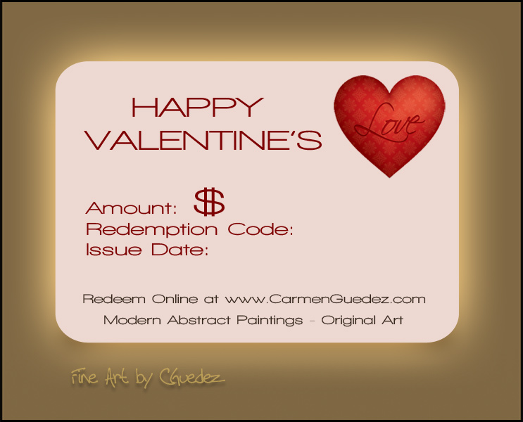Valentine's Day - Gift Certificate