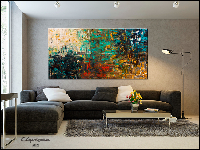 City Life-Modern Contemporary Abstract Art Painting Image