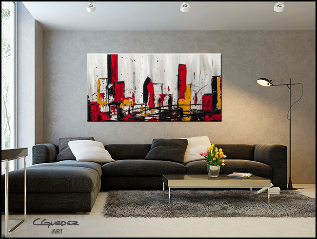 Modern City-Modern Contemporary Abstract Art Painting Image
