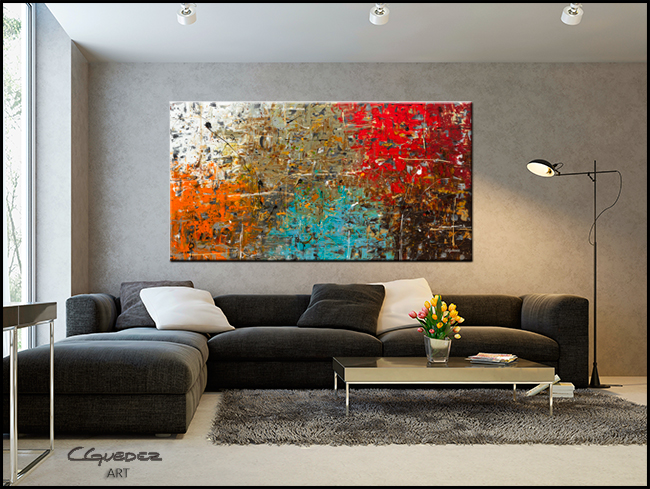 Now or Never-Modern Contemporary Abstract Art Painting Image