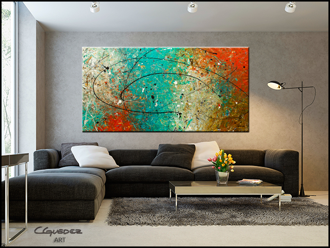 Sight to Behold-Modern Contemporary Abstract Art Painting Image