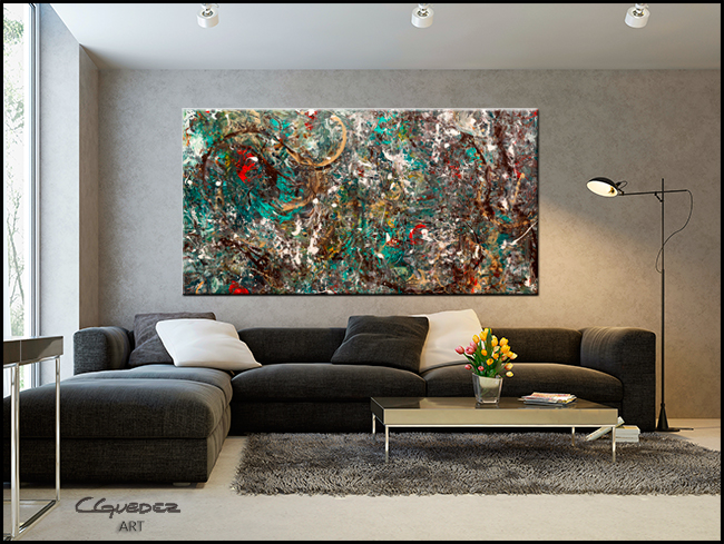 The Gold Ring-Modern Contemporary Abstract Art Painting Image