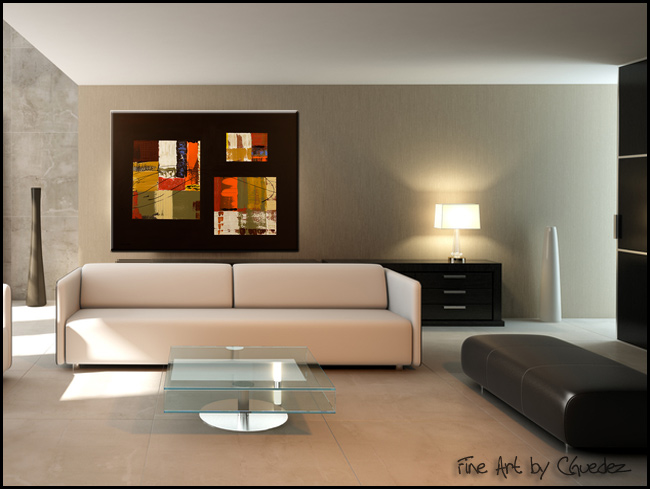 City Scape-Modern Contemporary Abstract Art Painting Image