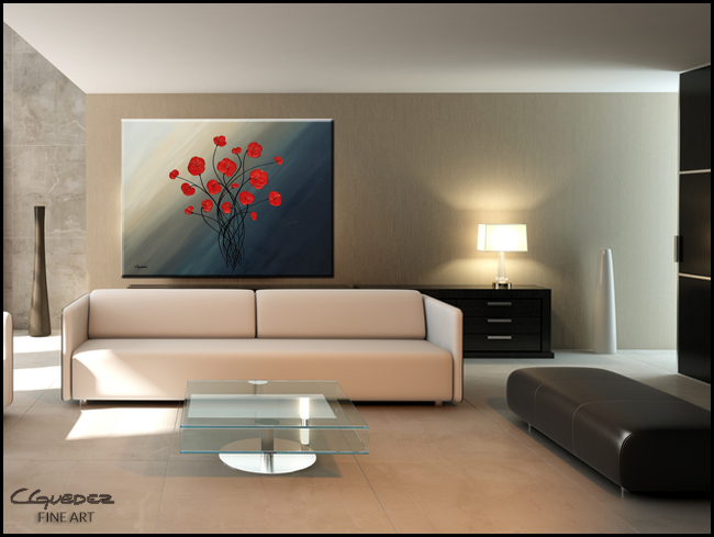 Clair de lune-Modern Contemporary Abstract Art Painting Image