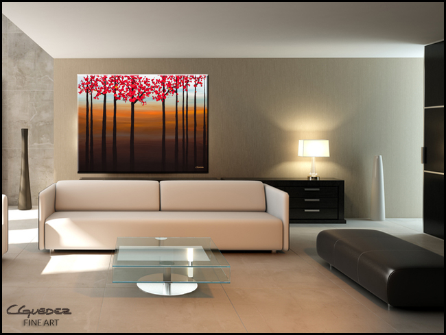 Coastal Paradise-Modern Contemporary Abstract Art Painting Image